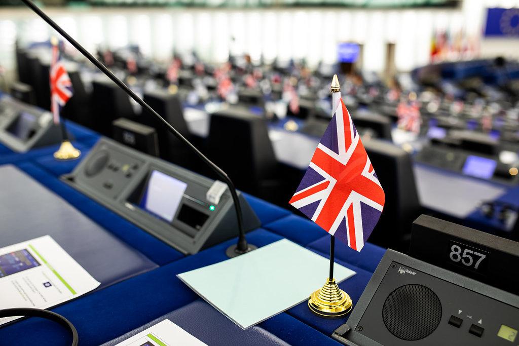 Flaggen im Europäischen Parlament